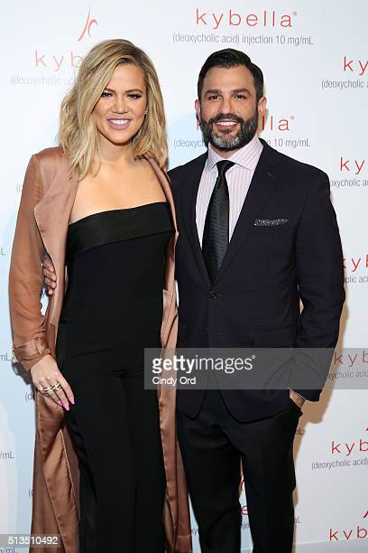 Khloe Kardashian and Dr Joseph Cilona launch KYBELLA campaign at IAC Building on March 3 2016 in New York City