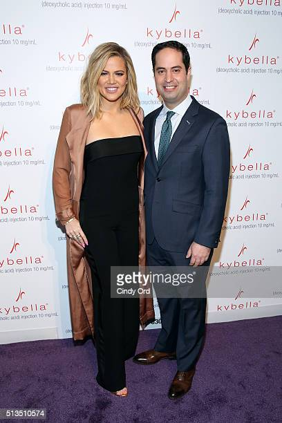 Khloe Kardashian and Dr Robert Anolik launch KYBELLA campaign at IAC Building on March 3 2016 in New York City
