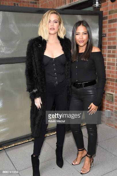 Khloe Kardashian and Emma Grede attend Good American press luncheon at Arlo Soho on October 26 2017 in New York City