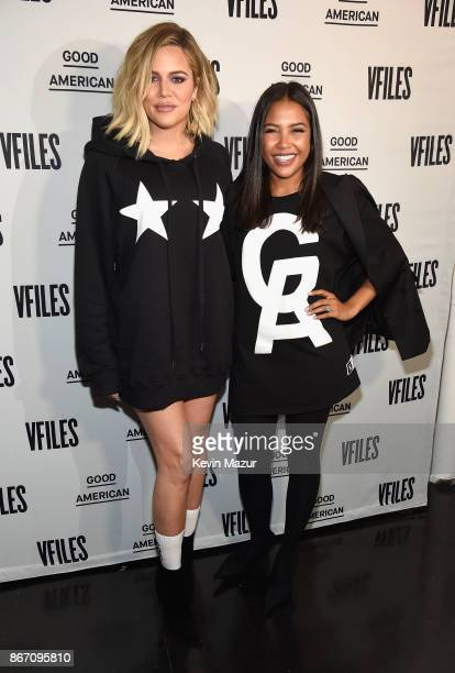 Khloe Kardashian and Emma Grede attend the Khloe Kardashian Emma Grede Celebrate Good American PopUp in Collaboration with VFILES on October 26 2017...