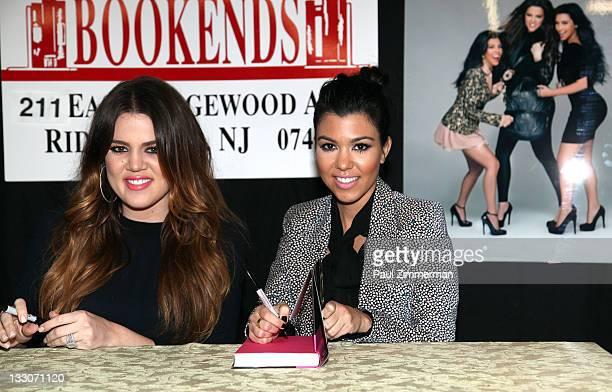 "Khloe Kardashian and Kourtney Kardashian promote the new book ""Dollhouse"" at Bookends Bookstore on November 16, 2011 in Ridgewood, New Jersey. Khloe..."