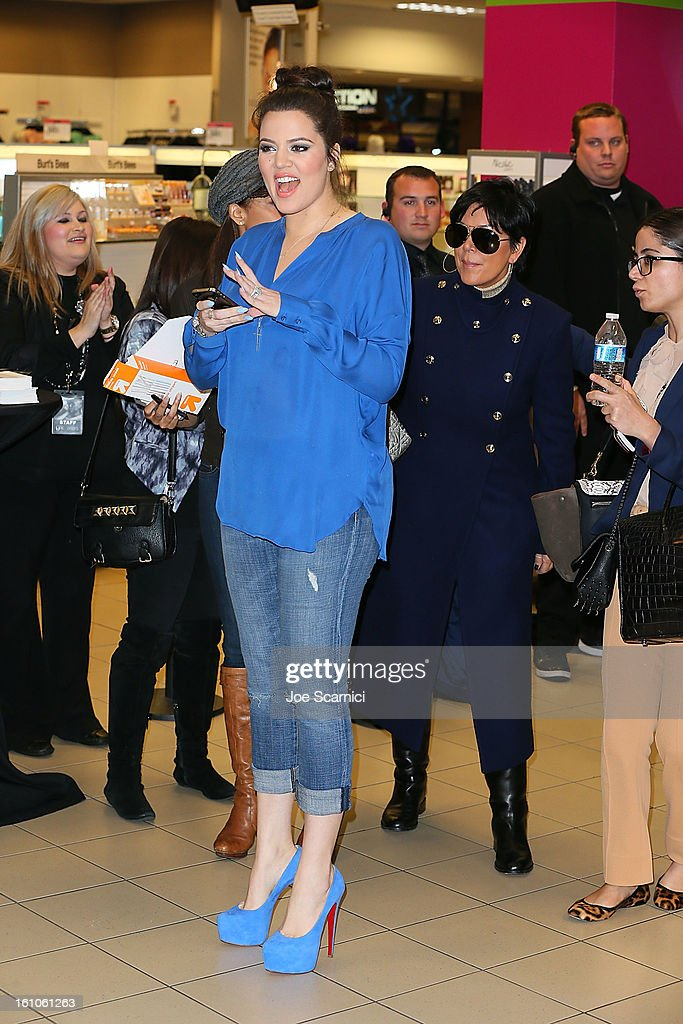 Khloe Kardashian and Kris Jenner launch 'Unbreakable Love' Fragrance at Sears on February 8, 2013 in Downey, California.