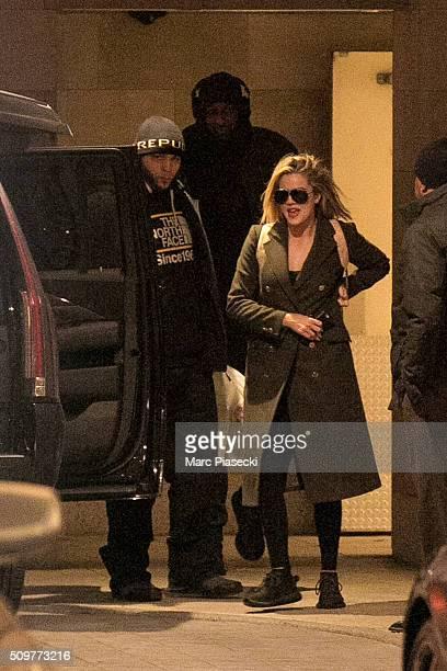 Khloe Kardashian and Lamar Odom are seen leaving the 'Waldorf Astoria' hotel on February 12 2016 in New York City
