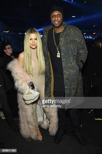 Khloe Kardashian and Lamar Odom attend Kanye West Yeezy Season 3 on February 11 2016 in New York City