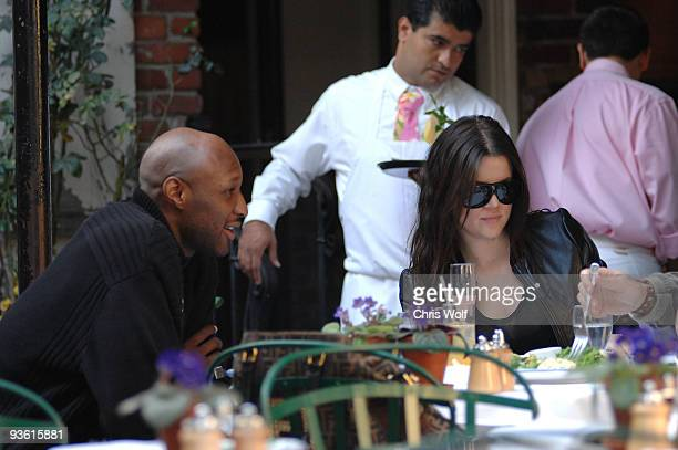 Khloe Kardashian and Lamar Odom sighting on December 2 2009 in West Hollywood California