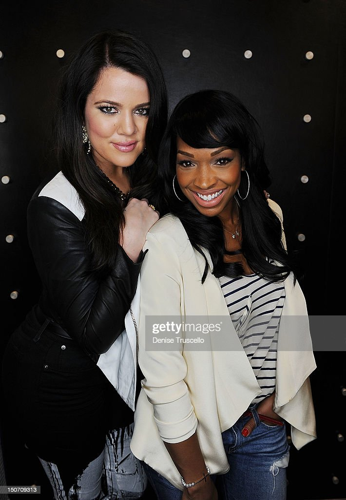 Khloe Kardashian and Malika Haqq during a special appearance by Khloe Kardashian at Kardashian Khaos at The Mirage Hotel and Casino on August 24, 2012 in Las Vegas, Nevada.