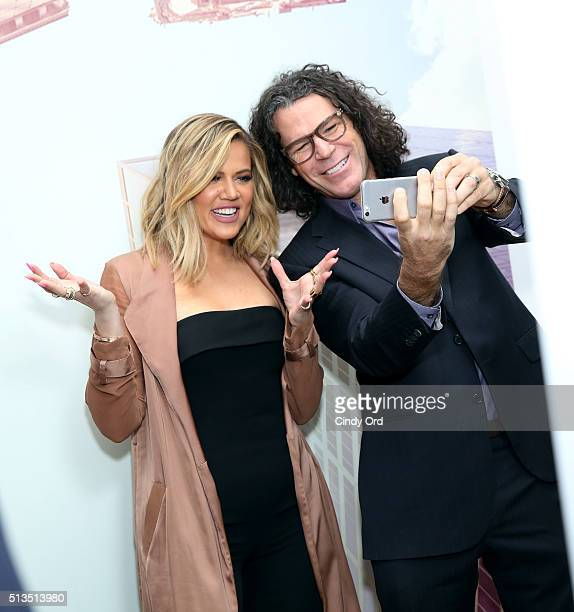 Khloe Kardashian and photographer Peter Hurley launch KYBELLA campaign at IAC Building on March 3 2016 in New York City