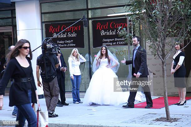 Khloe Kardashian and Tom Green attend the Celebrity Apprentice charity wedding gown sale at a Private Location on October 11 2008 in New York City