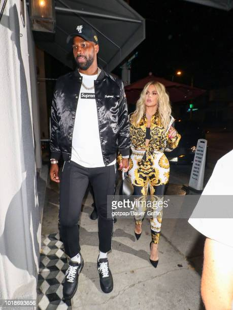 Khloe Kardashian and Tristan Thompson are seen on August 17 2018 in Los Angeles California