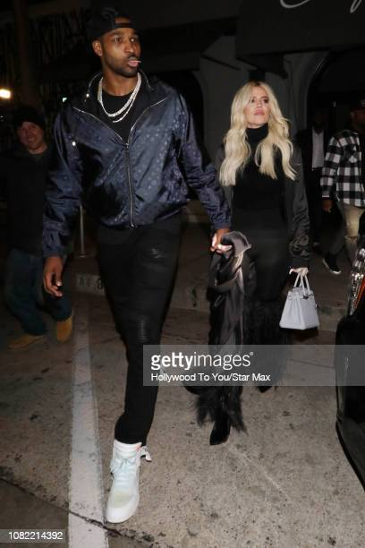 Khloe Kardashian and Tristan Thompson are seen on January 13 2019 in Los Angeles CA