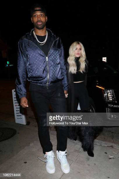 Khloe Kardashian and Tristan Thompson are seen on January 13, 2019 in Los Angeles, CA.