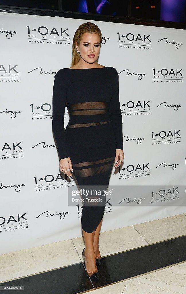 Khloe Kardashian arrives at 1 OAK Nightclub Las Vegas at the Mirage Hotel & Casino on May 22, 2015 in Las Vegas, Nevada.