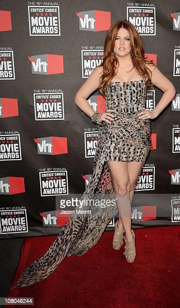 Khloe Kardashian arrives at the 16th annual Critics' Choice Movie Awards at the Hollywood Palladium on January 14, 2011 in Los Angeles, California.