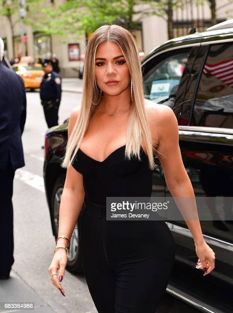 Khloe Kardashian arrives at the 2017 NBCUniversal Upfront at Radio City Music Hall on May 15 2017 in New York City