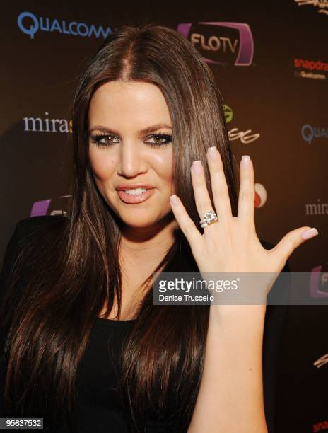 Khloe Kardashian arrives at the Kid Rock concert hosted by SWAGG at Hard Rock Hotel and Casino on January 7 2010 in Las Vegas Nevada