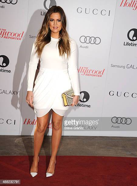 Khloe Kardashian arrives at the The Hollywood Reporter's Women In Entertainment Breakfast Honoring Oprah Winfrey at Beverly Hills Hotel on December...
