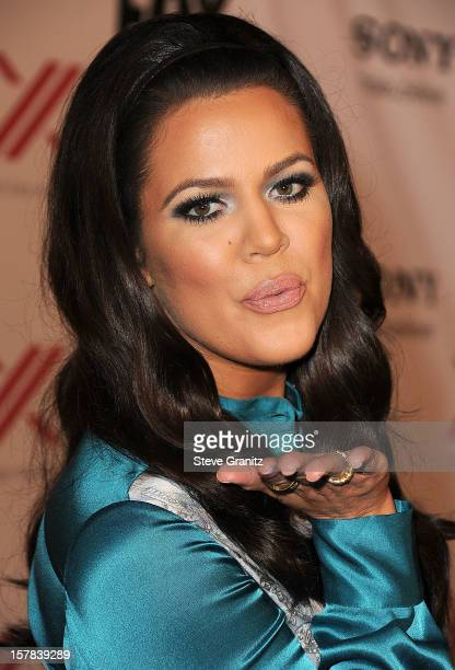 Khloe Kardashian arrives at the 'The X Factor' Viewing Party Sponsored By Sony X Headphones at Mixology101 Planet Dailies on December 6 2012 in Los...