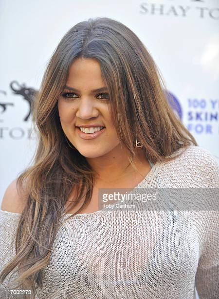 Khloe Kardashian arrives for the Goodbye cellulite hello bikini poolside party held at The NIVEA and Shay Todd Summer Chateau on June 18 2011 in Bel...
