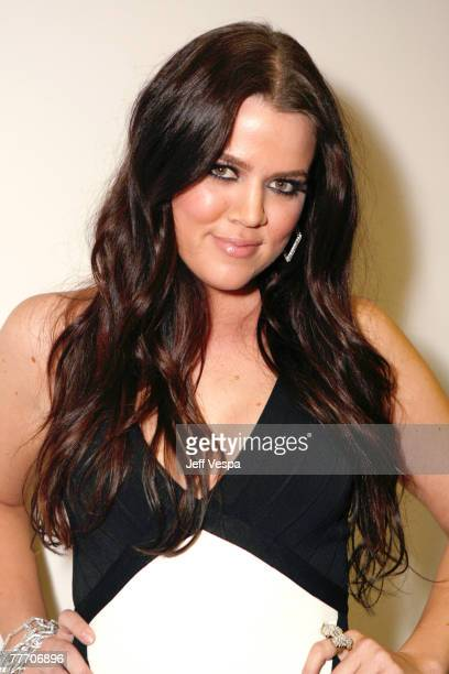 Khloe Kardashian at the Keeping Up With The Kardashians premiere party on October 9 2007 in West Hollywood California