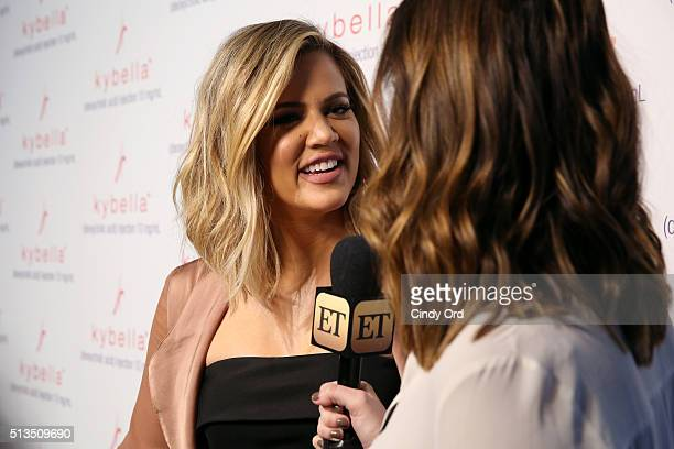 Khloe Kardashian attends Allergan KYBELLA event at IAC Building on March 3 2016 in New York City