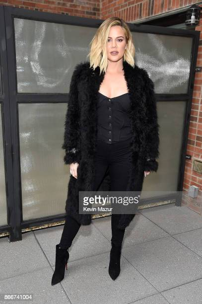 Khloe Kardashian attends Good American press luncheon with Emma Grede at Arlo Soho on October 26 2017 in New York City
