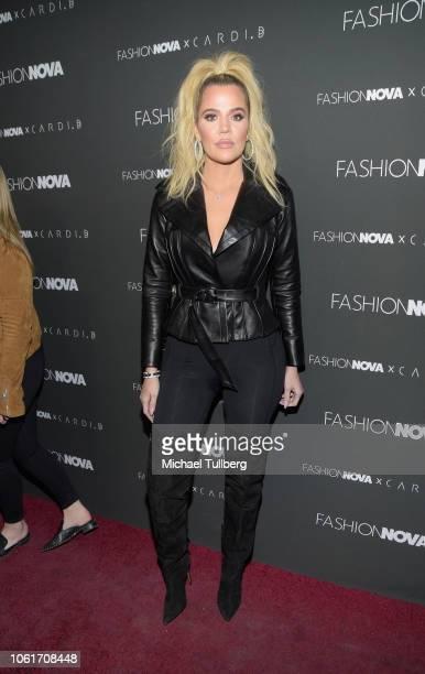 Khloe Kardashian attends the Fashion Nova x Cardi B collaboration launch event at Boulevard3 on November 14 2018 in Hollywood California