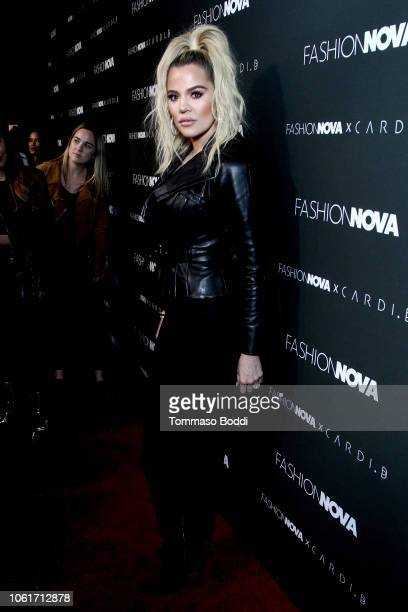 Khloe Kardashian attends the Fashion Nova x Cardi B Collaboration Launch Event at Boulevard3 on November 14 2018 in Hollywood California