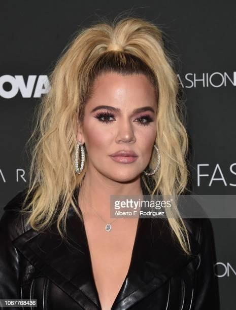 Khloe Kardashian attends the Fashion Nova x Cardi B Collaboration Launch Event at Boulevard3 on November 14, 2018 in Hollywood, California.
