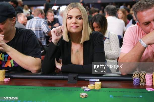 Khloe Kardashian attends the first annual If Only Texas hold'em charity poker tournament benefiting City of Hope at The Forum on July 29 2018 in...
