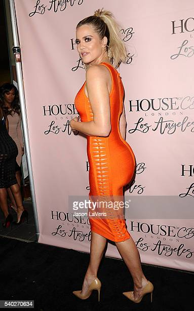 Khloe Kardashian attends the House of CB flagship store launch at House Of CB on June 14 2016 in West Hollywood California