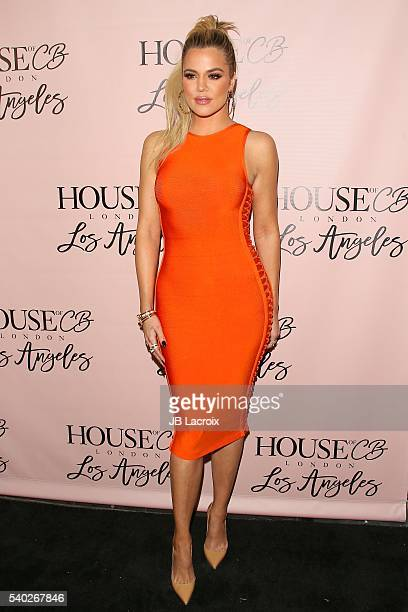 Khloe Kardashian attends the House of CB Flagship store launch on May 14 2016 in West Hollywood California