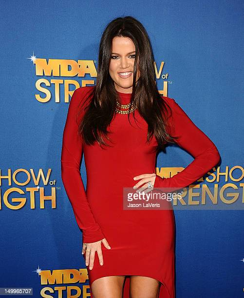 Khloe Kardashian attends the MDA Labor Day Telethon at CBS Studios on August 7 2012 in Los Angeles California