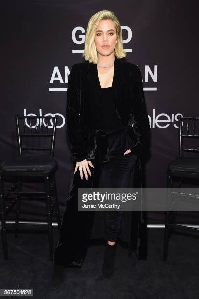 Khloe Kardashian celebrates the launch of Good American with Emma Grede at Bloomingdale's on October 28 2017 in New York City