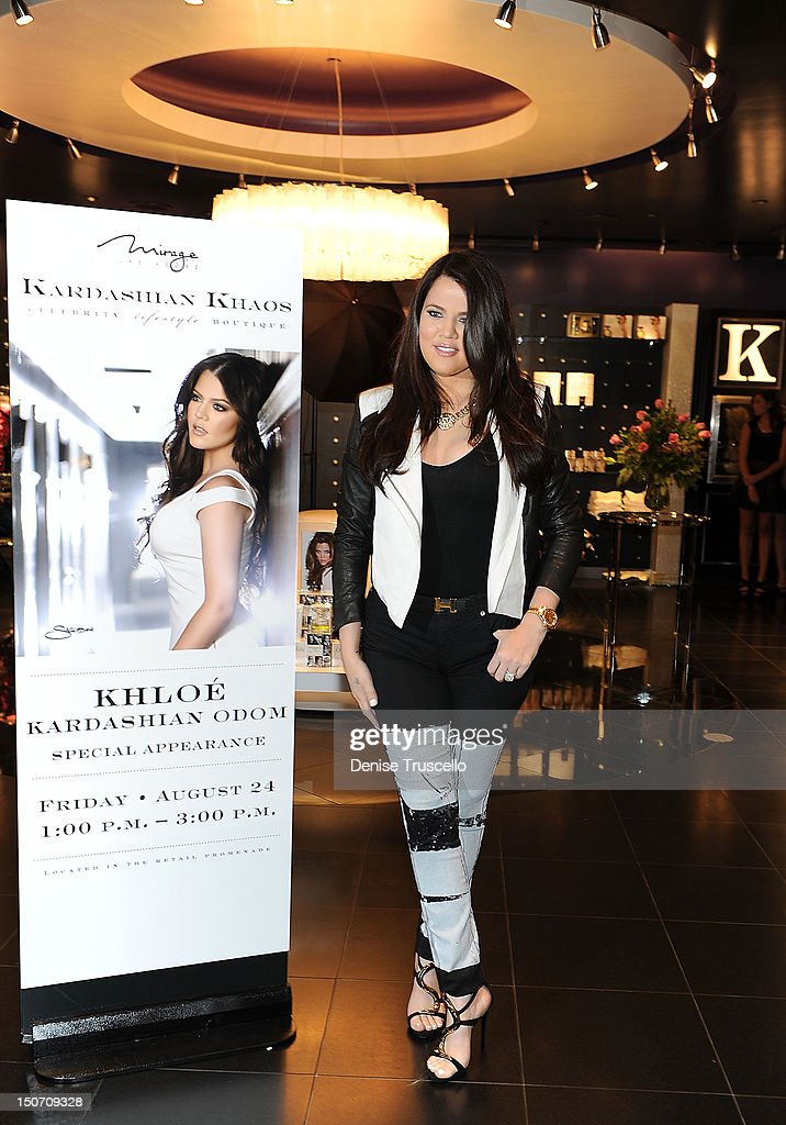 Khloe Kardashian during a special appearance at Kardashian Khaos at The Mirage Hotel and Casino on August 24, 2012 in Las Vegas, Nevada.