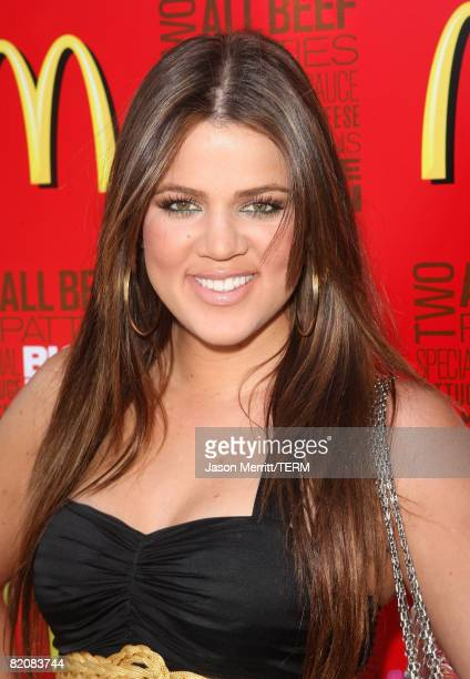 Khloe Kardashian during the McDonald's Big Mac 40th Birthday Party at Project Beach House in Malibu CA on July 27 2008