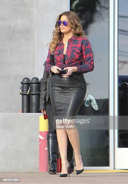 Khloe Kardashian is seen in Los Angeles on December 15 2014 in Los Angeles California