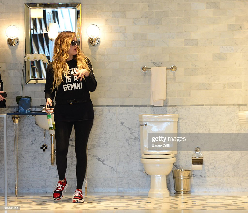 Khloe Kardashian is seen on April 24, 2014 in Los Angeles, California.