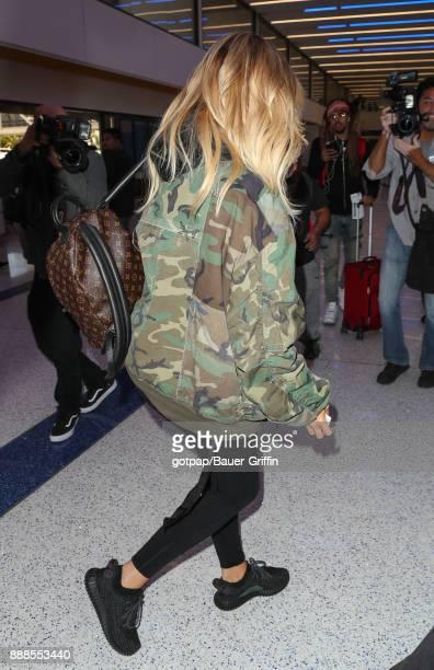 Khloe Kardashian is seen on December 08 2017 in Los Angeles California
