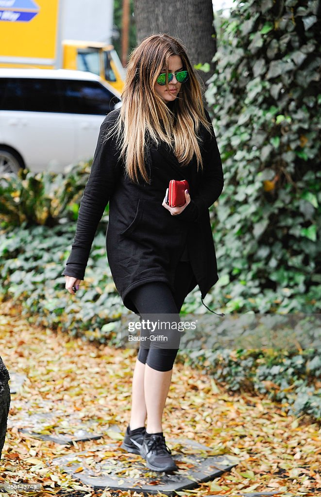Khloe Kardashian is seen on December 19, 2013 in Los Angeles, California.