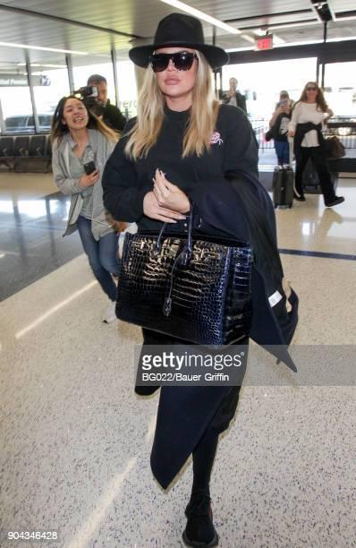 Khloe Kardashian is seen on January 12 2018 in Los Angeles California