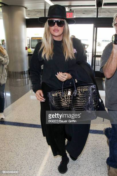 Khloe Kardashian is seen on January 12 2018 in Los Angeles California