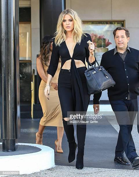 Khloe Kardashian is seen on June 13 2016 in Los Angeles California