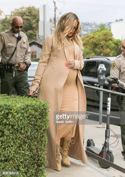 Khloe Kardashian is seen on March 07 2018 in Los Angeles California