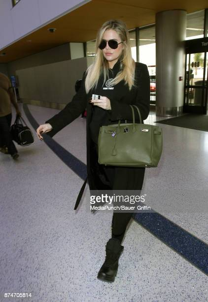 Khloe Kardashian is seen on November 15 2017 in Los Angeles California