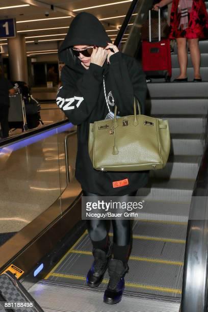 Khloe Kardashian is seen on November 28 2017 in Los Angeles California