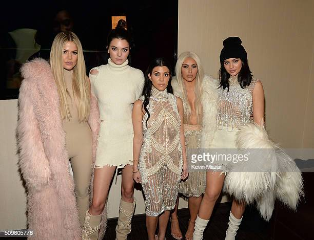 Khloe Kardashian Kendall Jenner Kourtney Kardashian Kim Kardashian West and Kylie Jenner attend Kanye West Yeezy Season 3 at Madison Square Garden on...