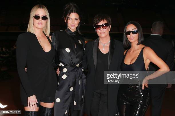 Khloe Kardashian Kendall Jenner Kris Jenner and Kim Kardashian West attend the first annual If Only Texas hold'em charity poker tournament benefiting...
