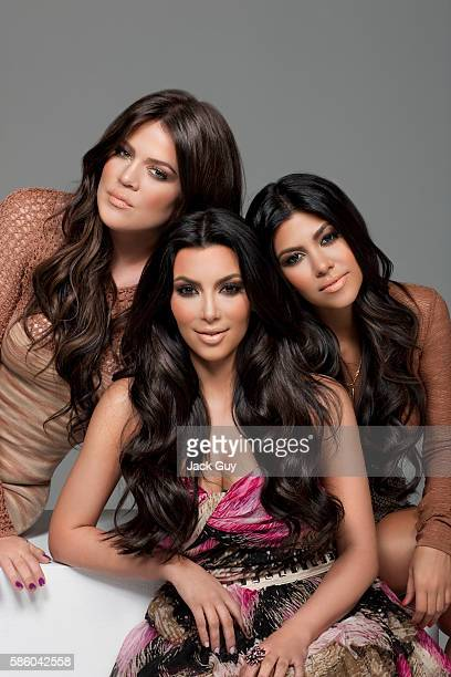 Khloe Kardashian, Kim Kardashian and Kourtney Kardashian are photographed for Los Angeles Confidential in 2010 in Los Angeles, California. PUBLISHED...