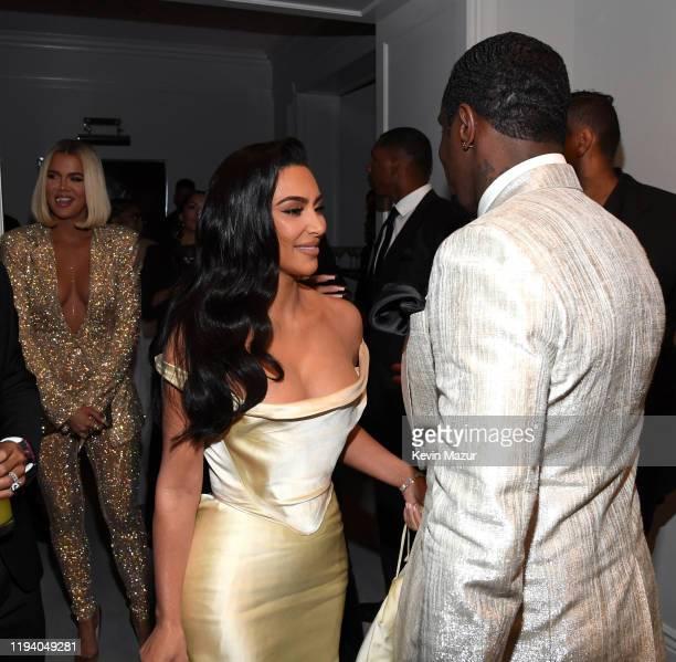 Khloe Kardashian, Kim Kardashian West, and Sean Combs attend Sean Combs 50th Birthday Bash presented by Ciroc Vodka on December 14, 2019 in Los...