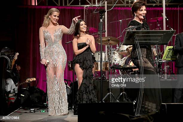 Khloe Kardashian Kourtney Kardashian and Kris Jenner onstage at the 2016 Angel Ball hosted by Gabrielle's Angel Foundation For Cancer Research on...